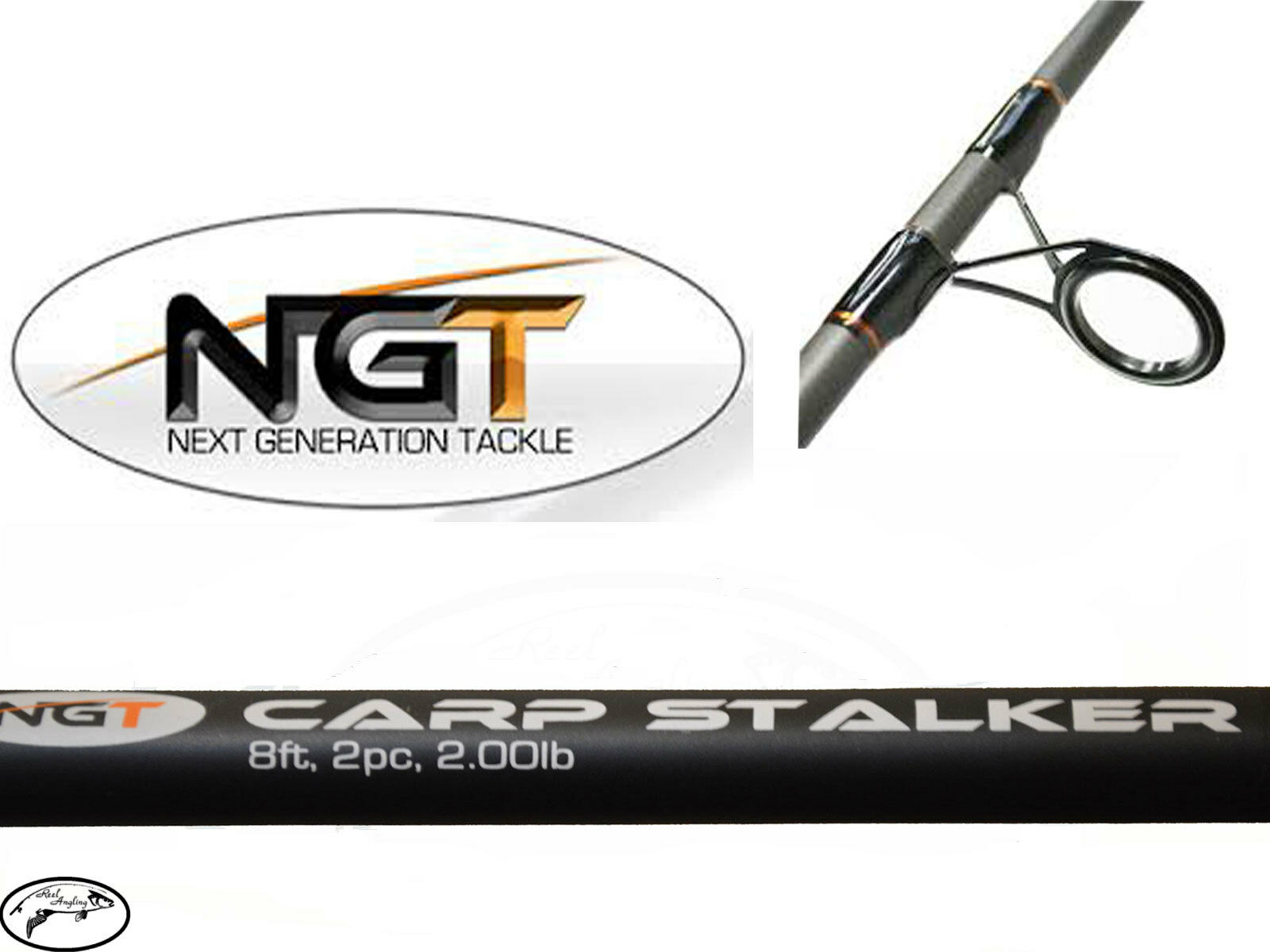 ngt fishing chair unusual chairs for sale uk 2 x carp stalker black 8ft 2pc stalking rod