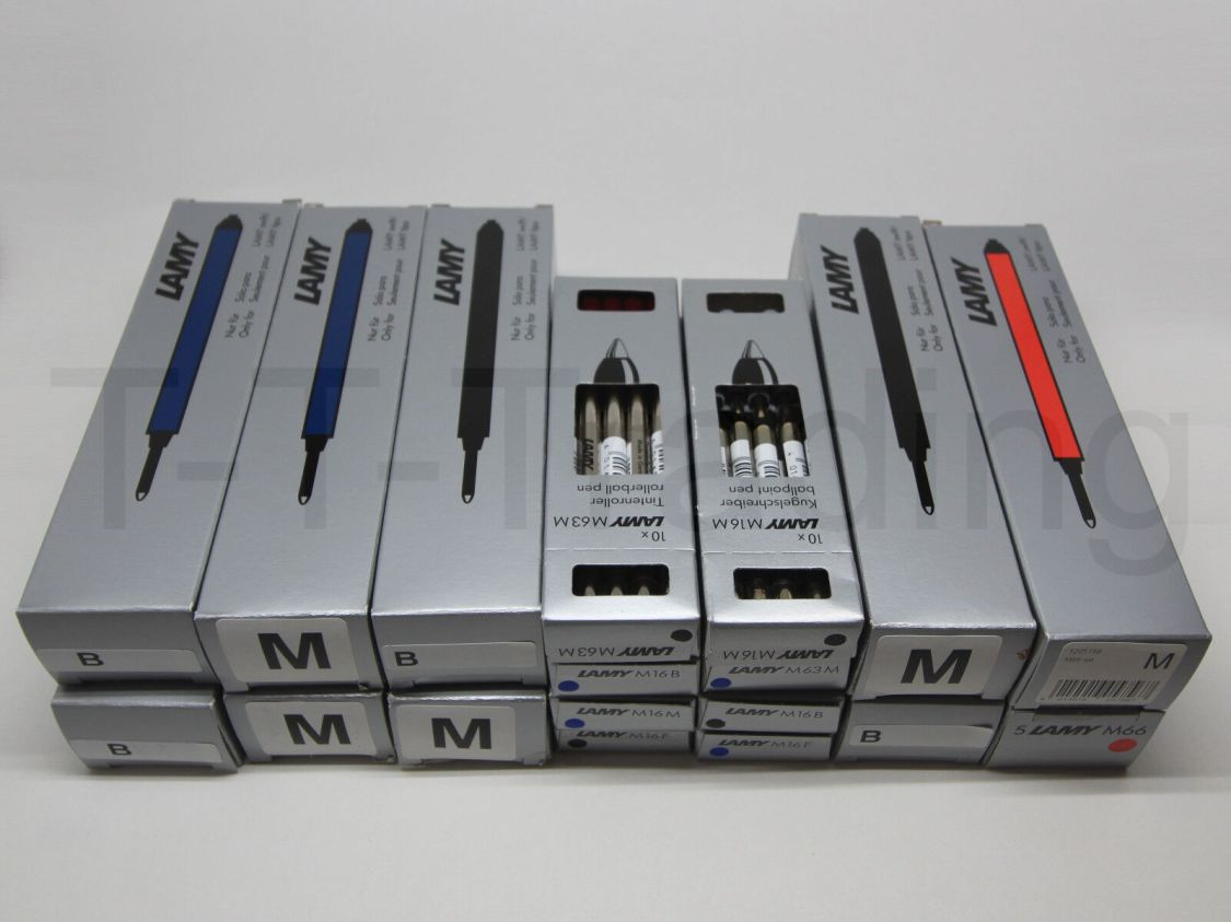Lamy Minen M16, M63, M66 blau, schwarz, rot, für Kugelschreiber & Tintenroller