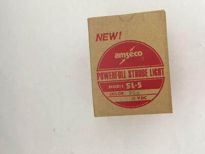 *NIB* *New* Amseco SL-5 Fire Alarm Powerful Strobe Light Red 24 VDC