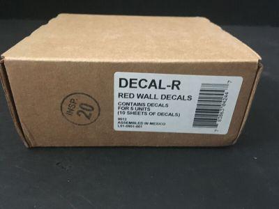 *NIB* *New* System Sensor DECAL-R Fire Alarm Red Wall Decals