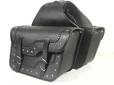 Satteltaschen Leder Motorrad Chopper Cruiser Packtaschen Gepäcktaschen ST30