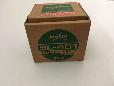*NIB* *New* Amseco SL-401 Fire Alarm Strobe Light Amber 12 VDC