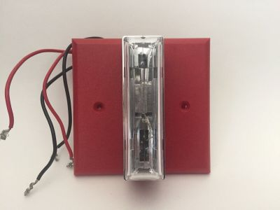 Gentex GXS-4-15/75WR Fire Alarm Remote Strobe w/ Mounting Plate