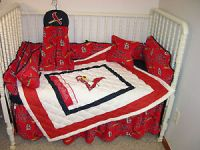 Crib Nursery Bedding Set Made w St Louis Cardinals Fabric ...
