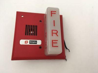 *Vintage* *Rare* Simplex GX90S-4 Fire Alarm Mini Horn/Strobe Gentex
