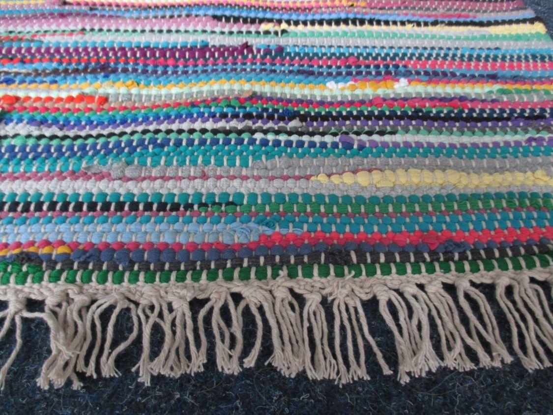Fleckerl Handweb Teppich Flickenteppich in Diversen Abmessungen