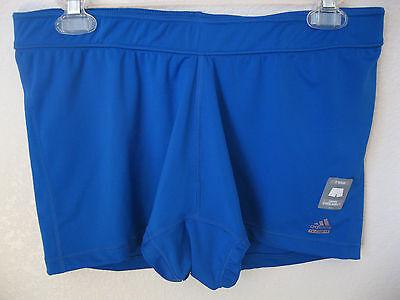 womens adidas techfit compression shorts xl blue athletic