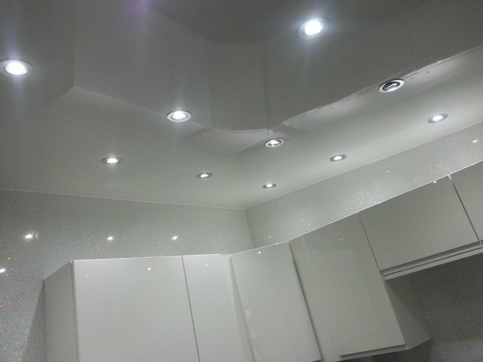 5 Plain White Decor Cladding Wall & Ceiling Panels PVC