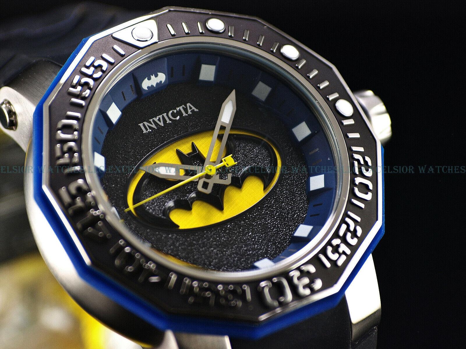 美國eBay代購第一品牌-樂淘letao-RARE! Invicta 52mm DC Comics BATMAN Sea Monster Limtd Ed Automatic Strap watch