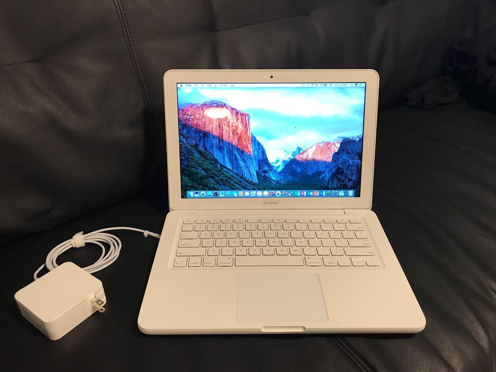 """Apple Macbook White 13"""" A1342 250gb Hdd 4gb Ram Os X"""