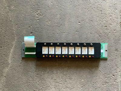 Simplex 562-805 (Rev B) Fire Alarm 16 LED / 8 Switch Fire Alarm 4100 Card