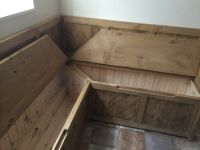 how to build corner bench seat with storage