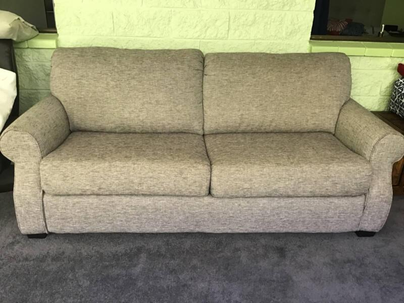 sofa bed with innerspring mattress italsofa brown leather loveseat queen size sofas gumtree you don t have any recently viewed items