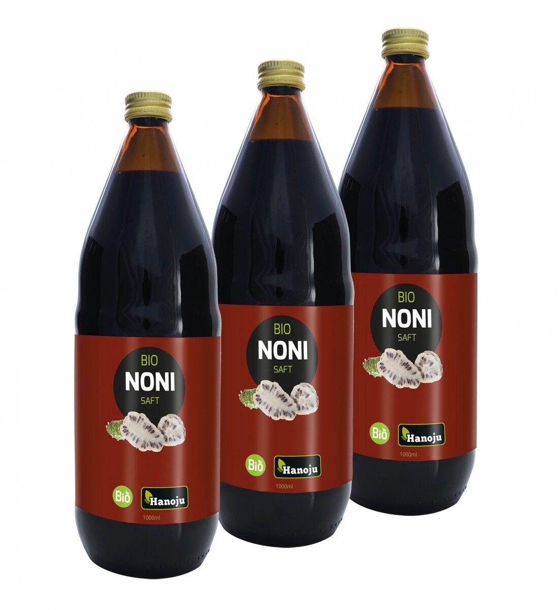 Hanoju Bio Noni Saft,  3 x 1000 ml (17,98€/1l)
