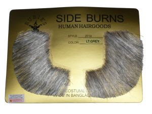 Human Hair Sideburns Pork Chop Victorian Free Adhesive Strips Porkchop 2019