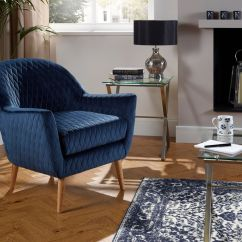 Tub Accent Chair Swing Lounge Glenn Velvet Armchair Retro Style Quilted Various Colours