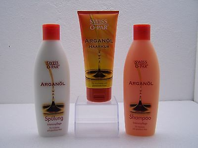 Arganöl   Swiss-O-Par   Shampoo & Spülung & Haarkur Pflege Set