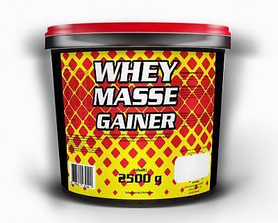 6,7€/kg Whey Masse Gainer 2500g Schoko Amino Eiweiss Protein Shake Muskelaufbau
