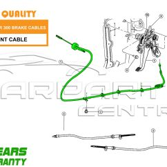 Corsa C Handbrake Cable Diagram Defi Meter Wiring For Chrysler 300c 3 Dt V6 05 08 New Front Parking