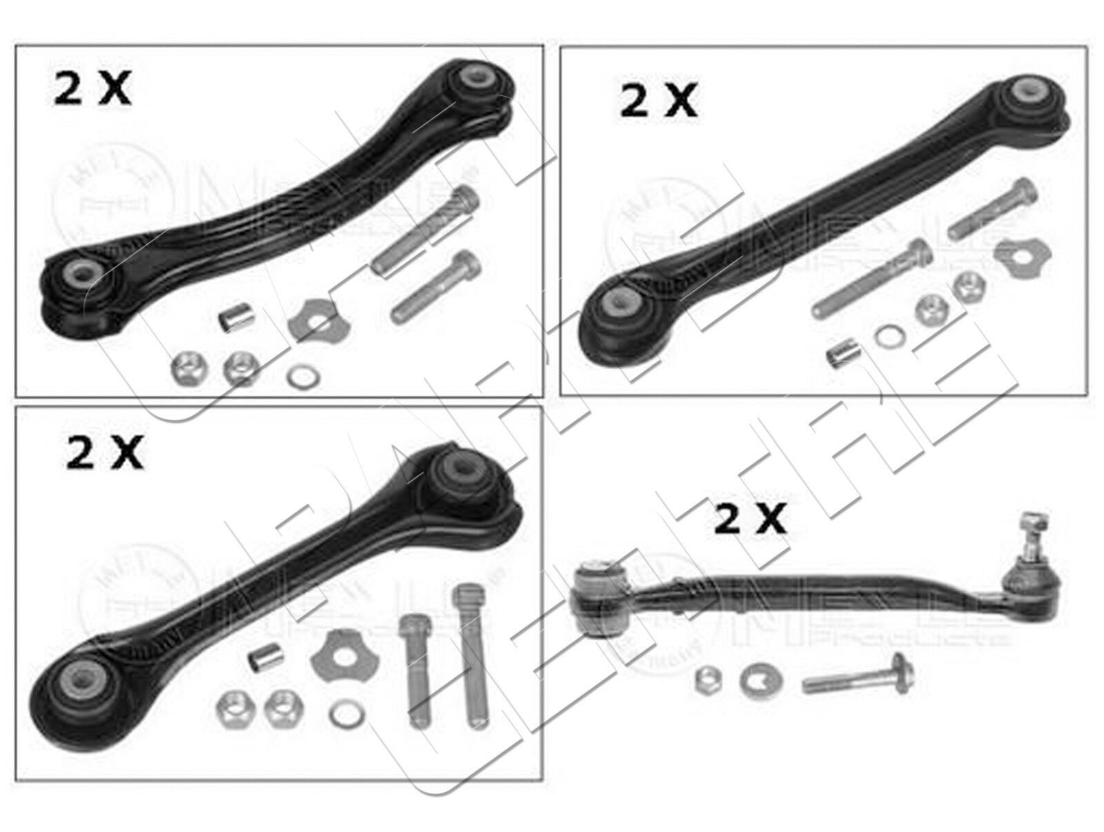 For Mercedes C Class W203 C220cdi Rear Lower Upper Left Right Control Arm Arms