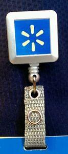 New Retractable Badge Holder w Walmart Spark Logo | eBay