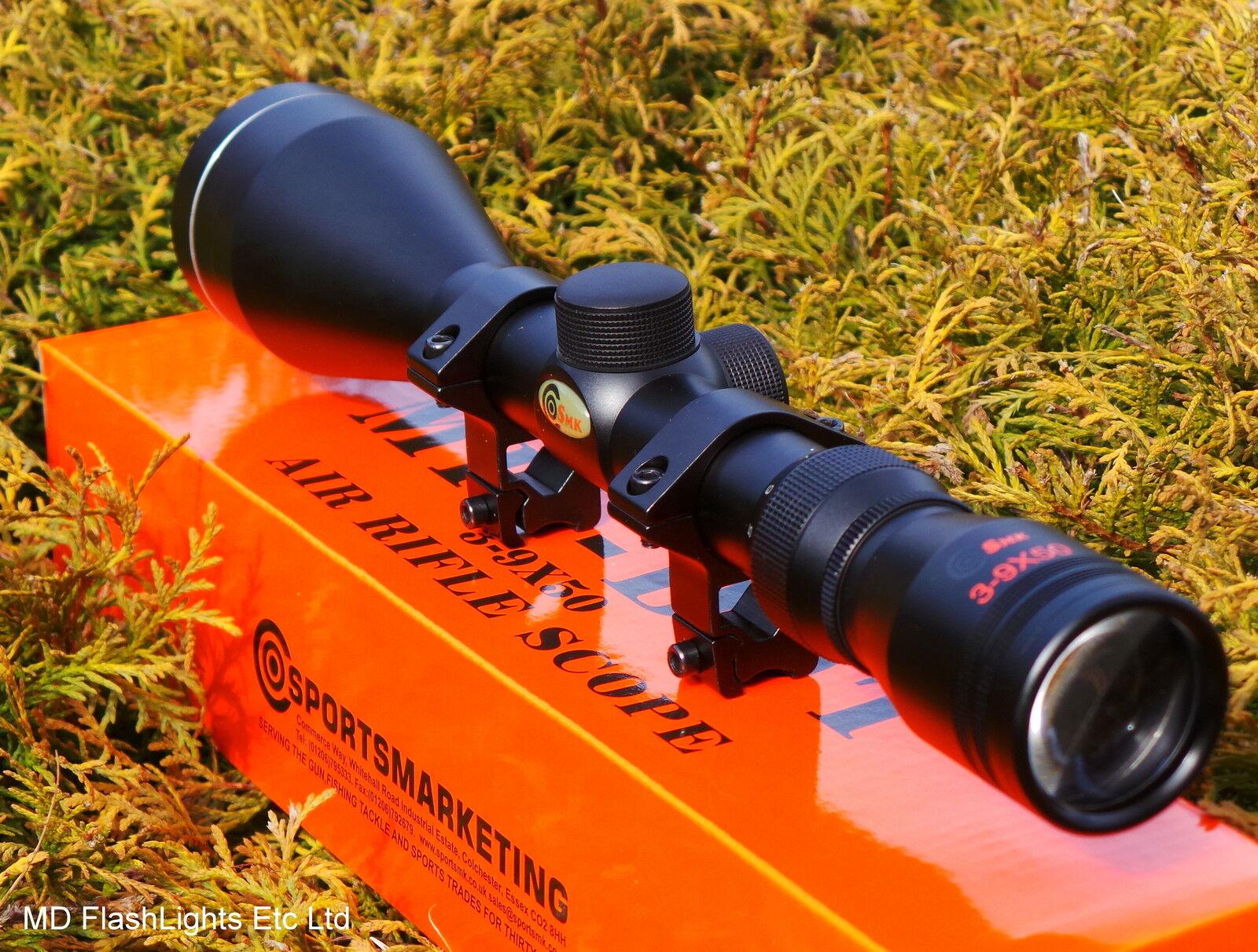SMK 39X50 MILDOT ZOOM AIR RIFLE GUN SCOPE SIGHT