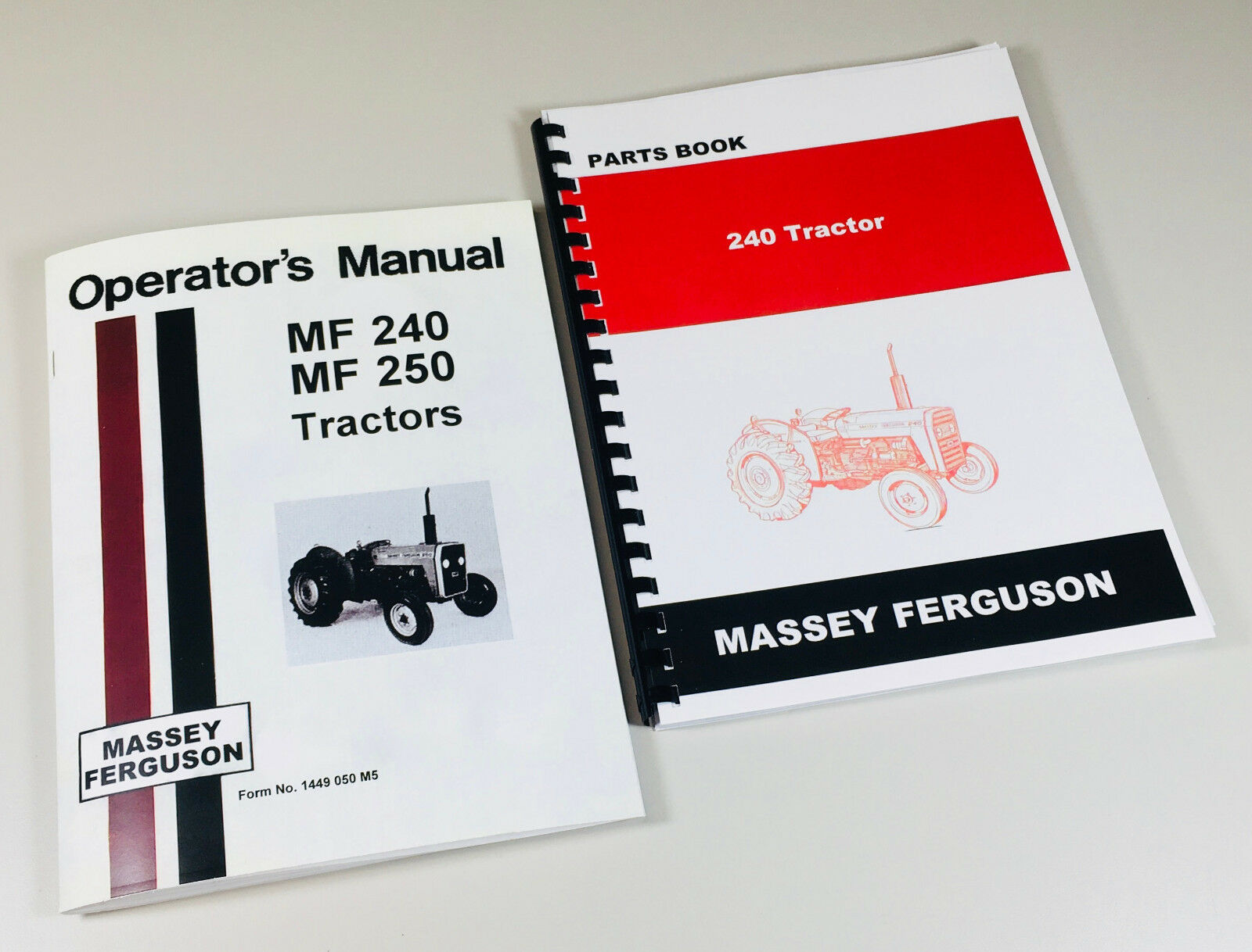 massey ferguson 240 parts diagram rv cable and satellite wiring mf tractor operators manual catalog ebay complete manuals