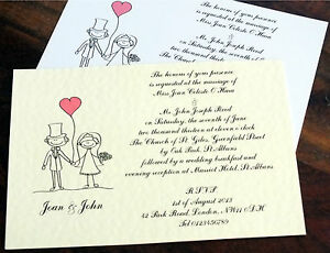 Cool Wedding Invitations For The Ceremony Non Personalised