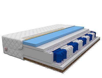 Matratze 90x200 LAVAL MAX 26cm 9 Zonen H3 H4 Hybrid FOAM Taschenfederkern KOKOS