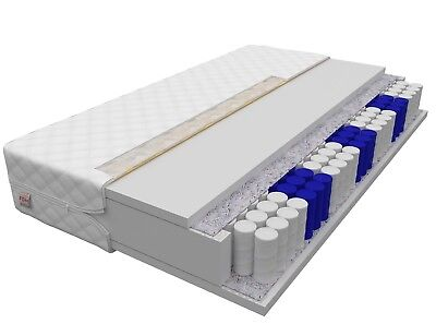 Matratze 140x200 BARI 7 Zonen Höhe 23cm H3 Premium Taschenfederkern NanoHard NEU