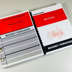 Massey Ferguson 240 Parts Diagram 92 Honda Accord Stereo Wiring Mf Tractor Service Repair Manual Catalog Complete Overhaul