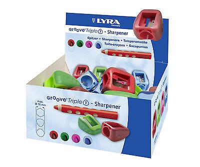 TOP! Lyra Groove Triple 1 Spitzer Anspitzer dicke Stifte bis 16mm Kunststoff