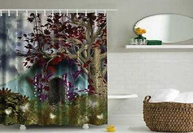Tree Fabric Shower Curtain Ebay