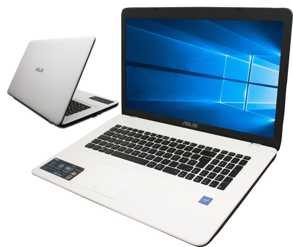ASUS F751 Notebook in weiß 17 Zoll HD Quad Core 4 x 2,5GHz 4GB  Win10 Office2018