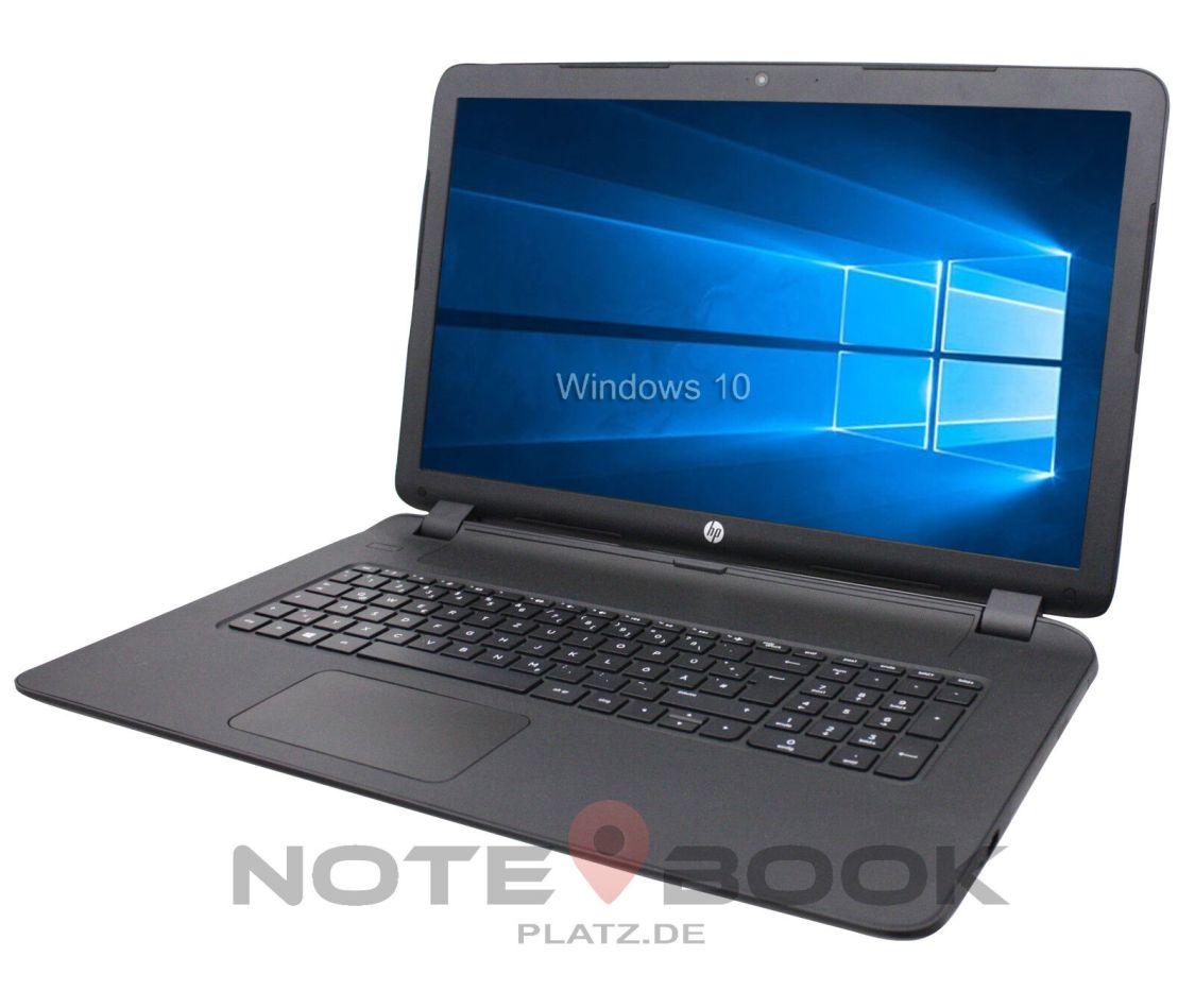 HP Notebook 17 Zoll HD+ Dual Core 2x 2,60GHz 8GB 256SSD Win10 / Laptop