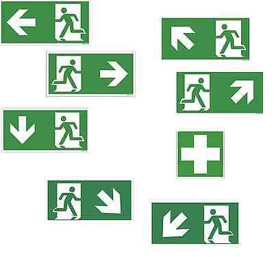 Fluchtweg Notausgang Schild Kunststoffplatte Rettungszeichen Rettungsweg ASR 1.3