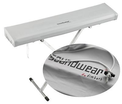 Soundwear Keyboard elastische Abdeckhaube 125 - 150 cm Silber Gummidurchzug