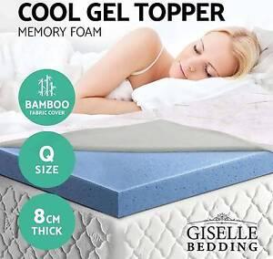 Gel Memory Foam Mattress Topper Bamboo Fabric Ecologic Queen