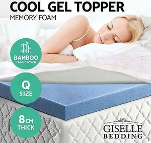 Gel Memory Foam Mattress Topper Bamboo Fabric Ecologic Queen