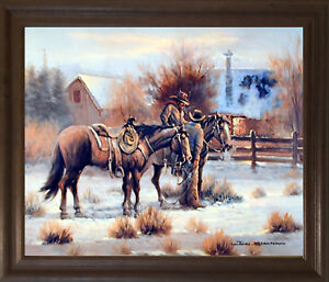 Framed Western Art Ebay