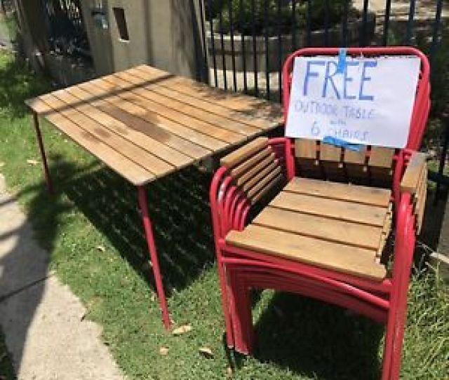 Free Outdoor Table  Chairs