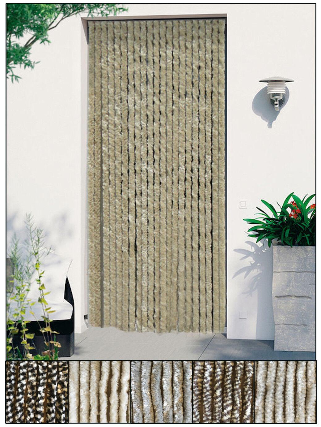 Türvorhang Flauschvorhang Flauschi Chenille Insektenschutz uni-farben Vorhang