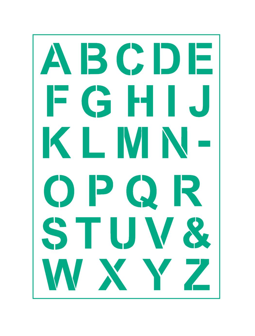 Alphabet Schrift-Schablonen Nr.4 Druck - Buchstaben ● verschiedene Größen