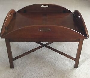hickory chair co slipcover for dining company ebay mahogany butler s tray table james river collection