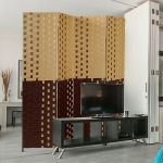 6ft 4-Panel Folding Screen Room Divider,Privacy Screen,Room Decor Woven Frame