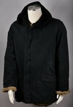 RICK OWENS Slab Vintage MRH6001 Wax Coated Hooded Denim Winter Jacket Size L NEW