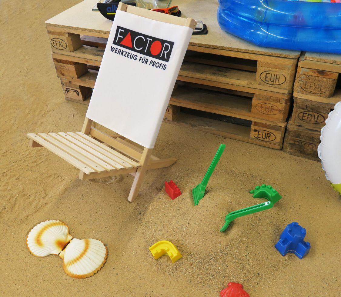Factor Liegestuhl aus Buchenholz Strandstuhl Sommer Camping *FREI HAUS*
