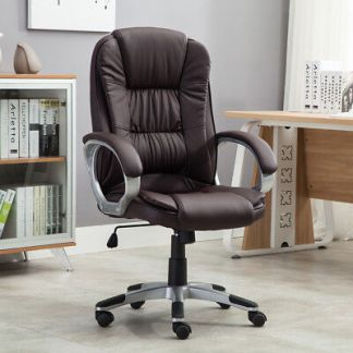 High brown PU Leather Executive Office Desk Task Computer boss luxury Chair NEW