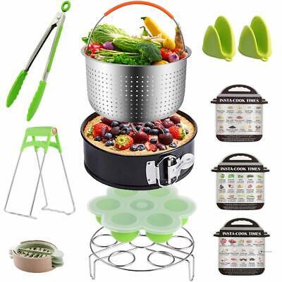 12 pieces Instant Pot Accessories Set Fits 6 qt 8 Quart Cooker W/Steamer Basket