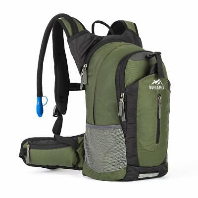 RUPUMPACK Insulated Hydration Backpack Pack for 2.5L BPA Bladder ARMY GREEN